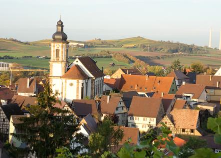 Blick auf Erlenbach